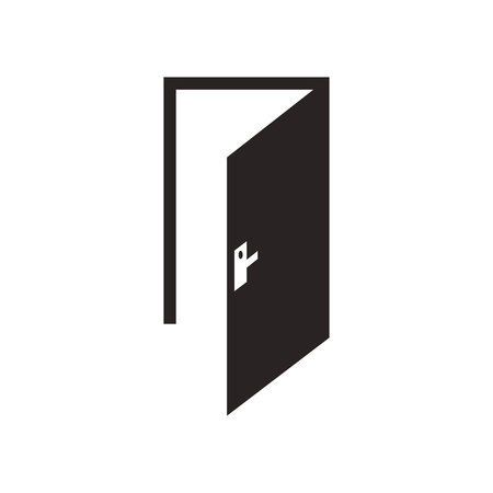 openness: door icon.vector illustration.