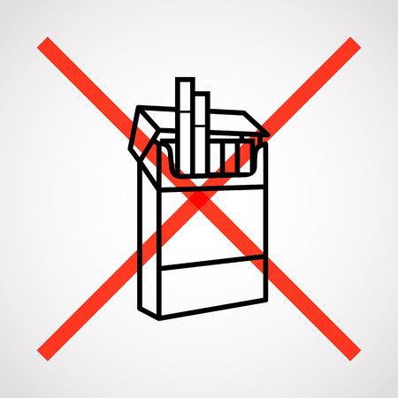 pernicious habit: no Smoking.vector illustration. Illustration