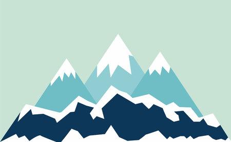 overlook: mountains landscape.vector illustration.