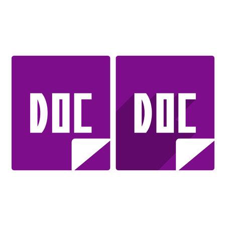 doc: doc icon.vector illustration.