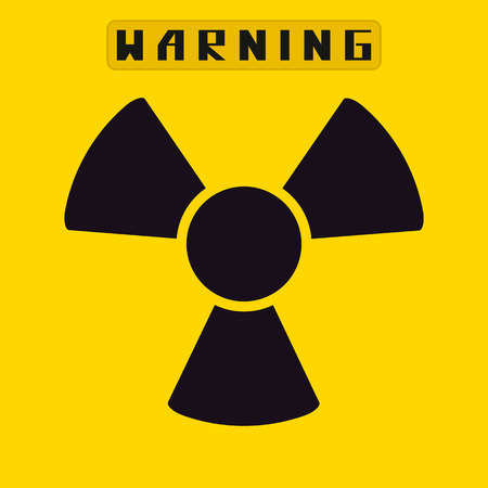 radiacion: ilustración sign.vector radiación. Vectores