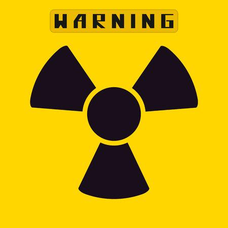 fission: radiation sign.vector illustration.