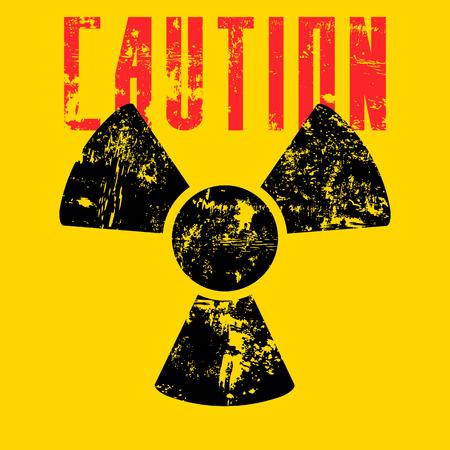 contaminate: radiation sign.vector illustration.