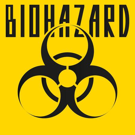 hazardous area sign: biohazard sign.vector illustration.