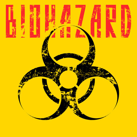 contagious disease: biohazard sign.vector illustration.