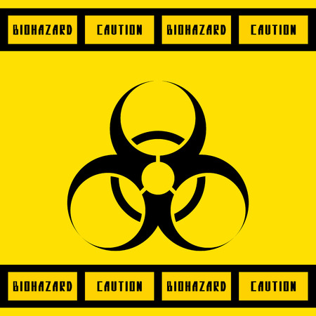 biologic: biohazard sign.vector illustration.
