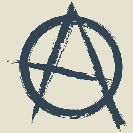 anarchism: anarchy symbol.vector illustration.