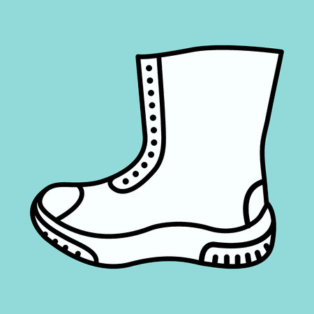 gumboots: boot icon.vector illustration.