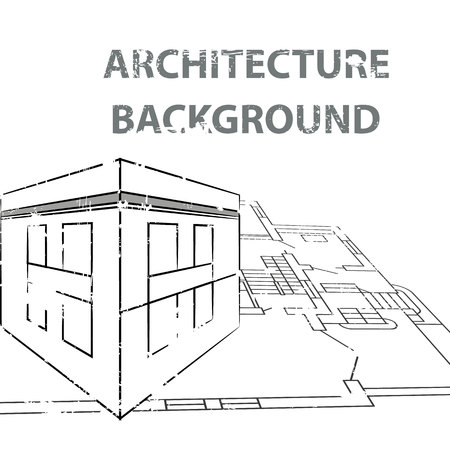 abstract building: architecture background.vector illustration.