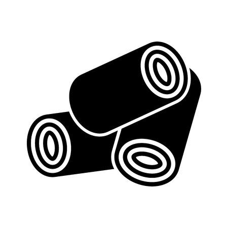 Houtpellets icon.vector illustratie.
