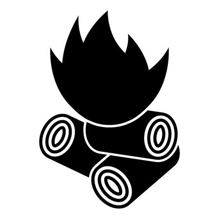 Granulés de bois icon.vector illustration. Vecteurs