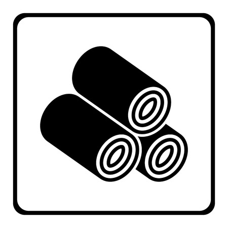 Wood Pellets icon.vector illustration.