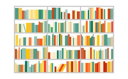 illustration: bookcase.vector illustration. Illustration