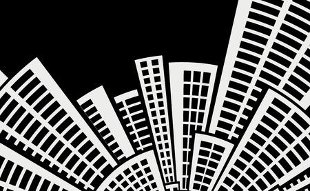 architecture: black and white architecture background.vector illustration. Illustration
