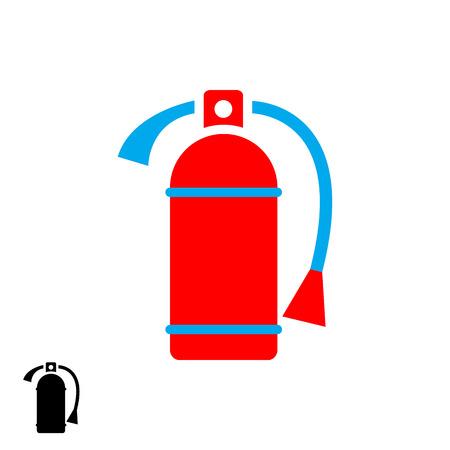 foam safe: fire extinguisher icon.vector illustration. Illustration