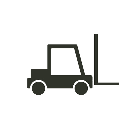 fork lifts trucks: forklift icon.vector illustration.