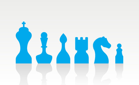 set chess figures.vector illustration.