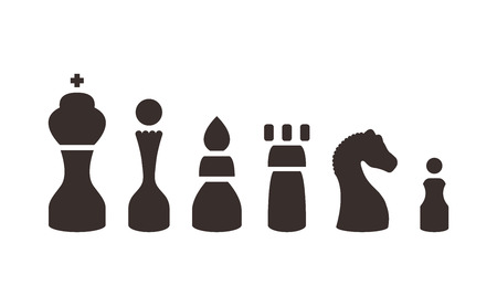 set chess figures.vector illustration. Illustration