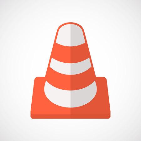 road traffic: traffic cone icon.vector illustration. Illustration
