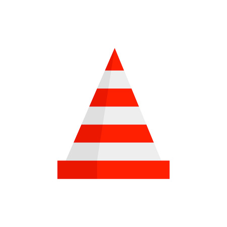 traffic cone icon.vector illustration. Illustration