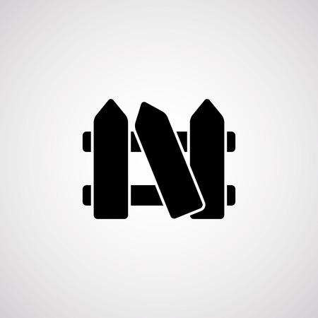 bucolic: fence icon.vector illustration.