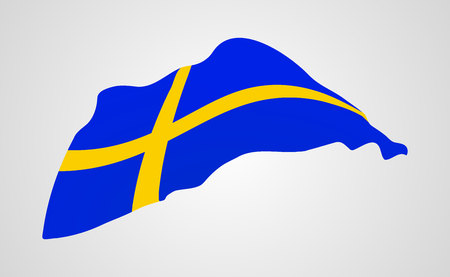 flag of Sweden.vector illustration.