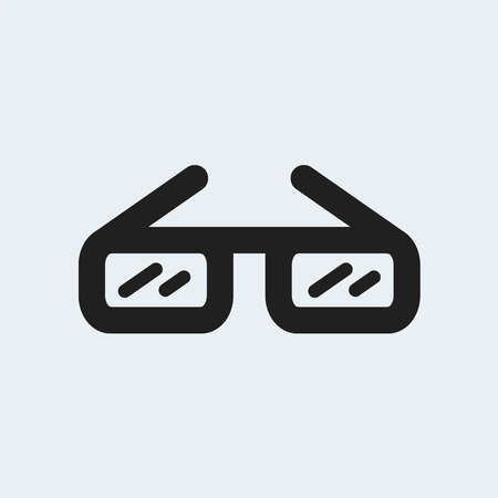 glasses icon.vector illustration.