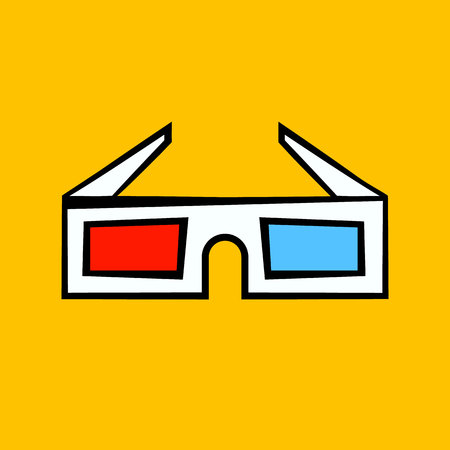 3d glasses.vector illustration.