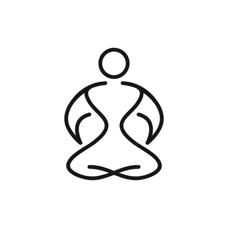 yoga icon.vector illustration. Illustration