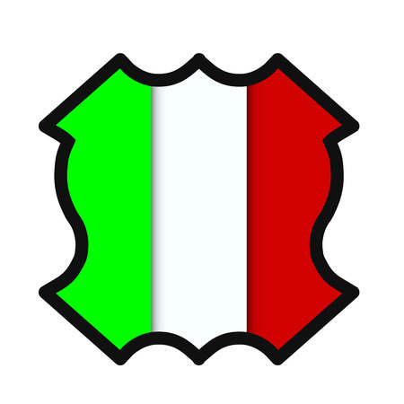 flag Italy illustration.