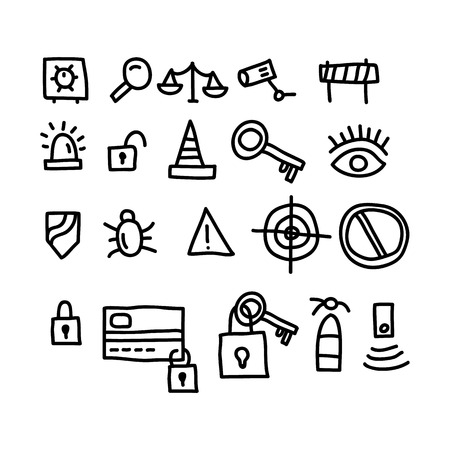 security doodles icon.vector illustration.