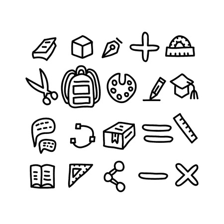 Education doodles Icons.vector illustration.