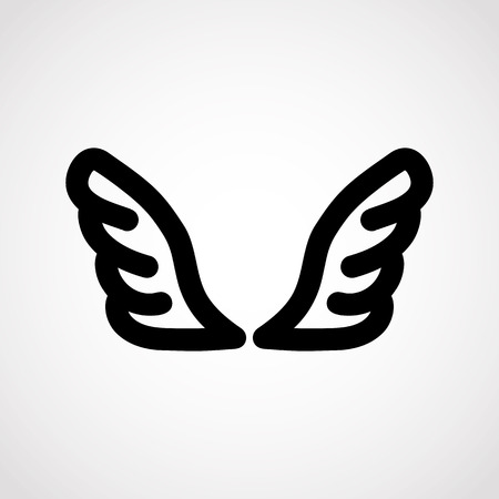 wings icon.vector illustration.