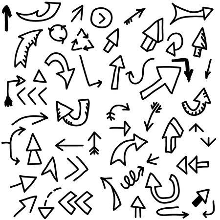 arrow doodles icon.vector illustration.
