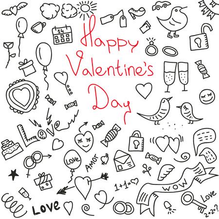 happy valentines day.vector illustration.