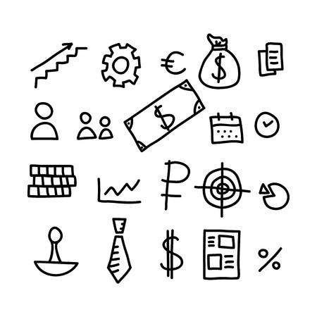 business doodles icon.vector illustration.