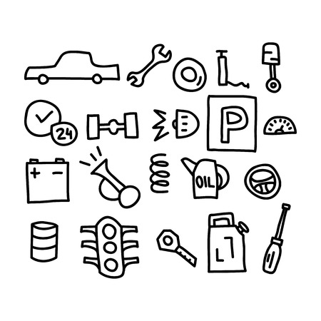 auto doodles icon.vector illustration.