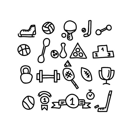 sport doodles icon.vector illustration. Illustration