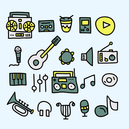 music doodle collection.vector illustration. Illustration