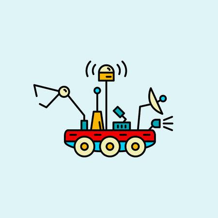 Space truck.vector illustration.