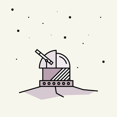 astronomical observatory.vector illustration. Illustration