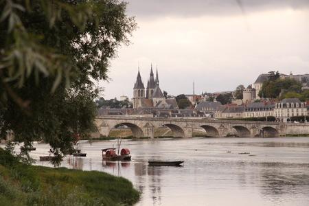 guise: Bridge Jacques-Anzha Gabriel in Blois Stock Photo