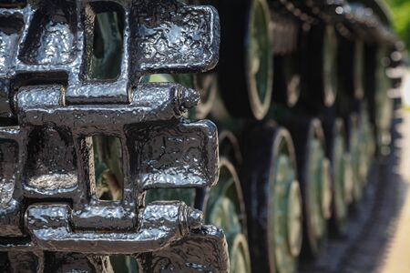 tank caterpillar Klim Voroshilov 2, close-up Stock fotó