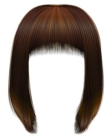 trendy hairs dark brown colors. kare fringe. beauty fashion
