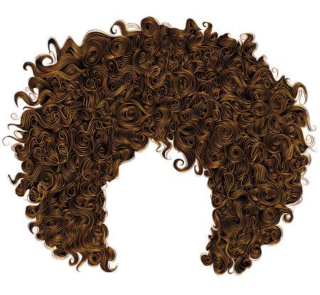 trendy lockigen roten Haar. realistische 3D. sphärische Frisur Rotschopf. Mode-Stil Schönheit.