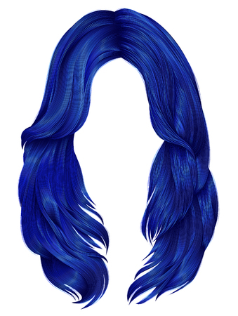 trendy woman long hairs  colors . beauty fashion .  realistic