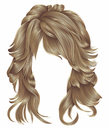 Trendy woman long hairs wig brown   blonde    beige colors .beauty f