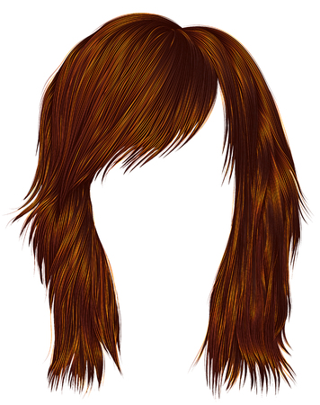Ginger hair of a woman icon.