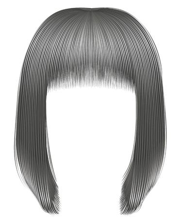 Trendy hairs gray colors . kare fringe beauty fashion