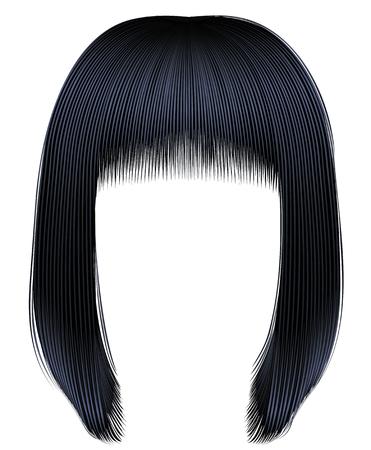 trendy hairs brunette black colors .